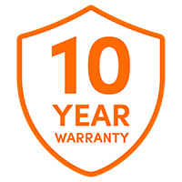 Up to 10 year warranty
